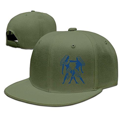 lalayton-unisex-gemini-zodiac-funny-hip-hop-baseball-cap-sun-hat-sports-caps-forestgreen