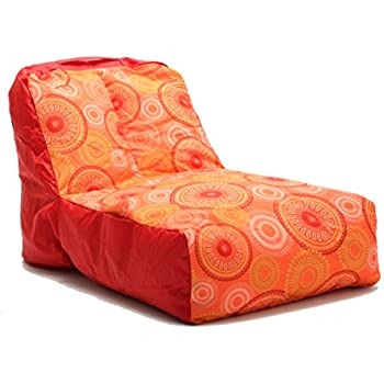 Amazon Com Big Joe Breeze Float Orange Medallion Bean Bag