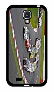 Cars Racing on Racetrack 2-Piece Dual Layer Phone Case Back Cover Samsung Galaxy S4 I9500