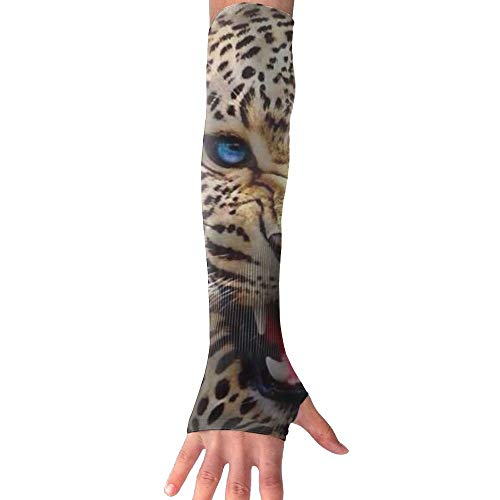 ZHIYANG Angry Leopard Super Long Fingerless Anti-uv Sun Protection Sleeves for Outdoor Activities Apply to Camping,Driving,Cycling Arm Prevent Injuries Modeling Stylish by ZHIYANG