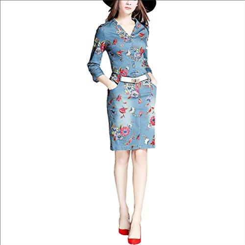 Robe denim robe imprimée - couleur l (110-120 kg) picture color