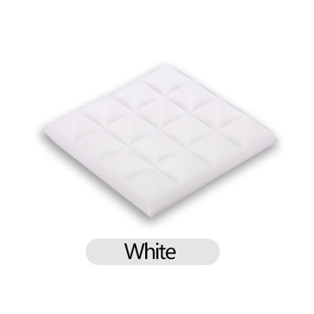 Iuhan Acoustic Foam Panel Sound Stop Absorption Sponge Studio KTV Soundproof (White)