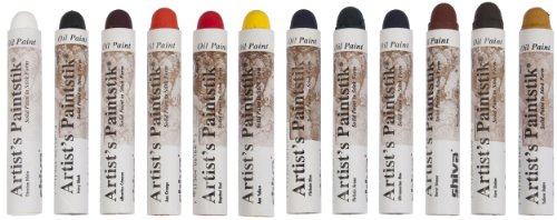 Jack Richeson 121502 Shiva Oil Paintstik, Professional Colors, Set of 12