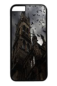 Crow steeple Polycarbonate Hard Case Cover for iPhone 6 4.7 inch Black
