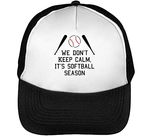Calm It'S Blanco Softball Season Gorras We Don'T Beisbol Negro Hombre Keep Snapback 7qpxxTE