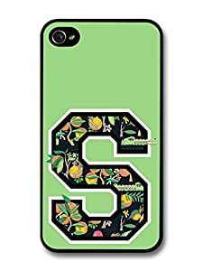 Letter S Customized Name See Through Cool Hipster Style Flowers Background For Samsung Galaxy S3 I9300 Case Cover