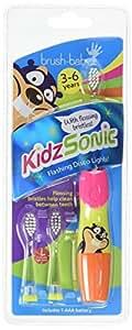 Cepillo de bebé - el color de cepillo de dientes eléctrico de Sonic Kidz hijos: rosa 3 pequeñas cabezas con cerdas que vibran suavemente