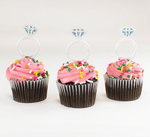 Diamond Ring Cupcake Toppers  Pack