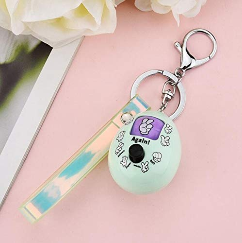 Keychain for men women - Game Key Friends Scissors Key Rings Funny - Egg Style 1 Green (Pookie Keychain)