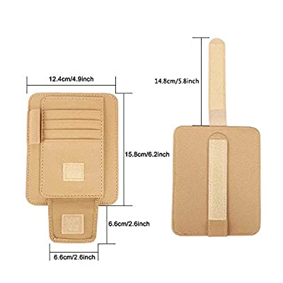 WINKA Car Sun Visor Organizer, Document Storage Personal Auto Interior Accessories, Pocket Organizer for Sunglasses and Cards Yellow: Automotive