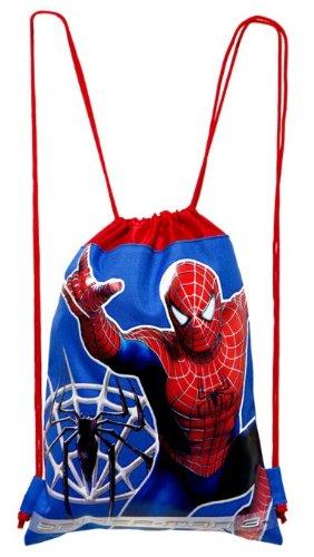 Blue Spiderman Drawstring Bag - Kids Drawstring Backpack (Man Spider Drawstring)