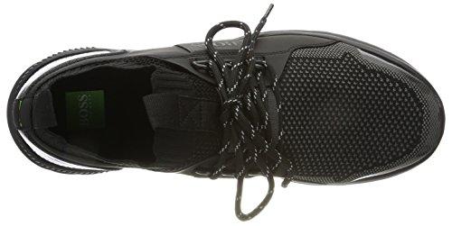 BOSS Green Men's Extreme_Runn_Knit Hi-Top Trainers, Black Black