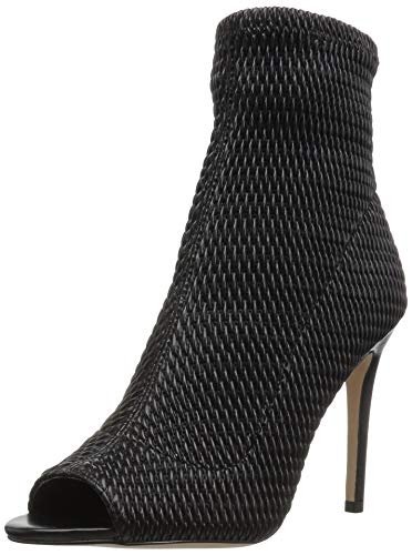 (BCBGeneration Women's Jane Peep Toe Ankle Boot, Black Quilted Leather, 8 M US)