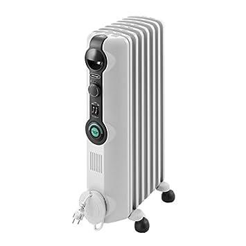 Delonghi Radia S - Radiador con comfort temp, 7 elementos, color blanco