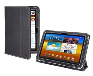Cover-Up - Funda de cuero para Samsung Galaxy Tab 8.9 Tablet (GT-P7310 / GT-P7300) con soporte estilo prisma – color negro