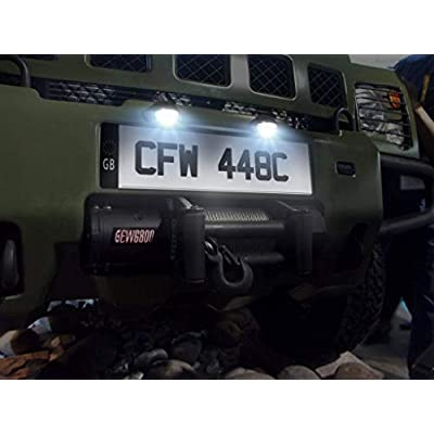 Justech 2pcs 3LEDs License Plate Light Number Plate Lights Waterproof Shock Resistant 12V 24V for Truck SUV Trailer Van, Trailers, RV, Trucks & Boats License Tags: Automotive