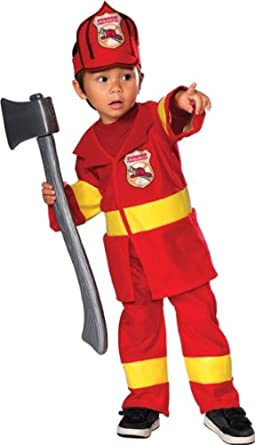 amazoncom kids baby halloween costume firefighter fireman infant 6 12 months clothing - Fireman Halloween
