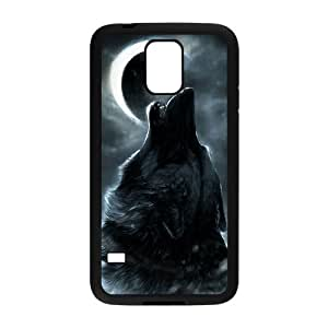 Customized Durable Case for SamSung Galaxy S5 I9600, Wolf and Moon Phone Case - HL-R663865