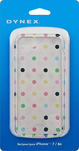 Dynex - Soft Shell Case for Apple iPhone 6s, 7 - Candy Dots