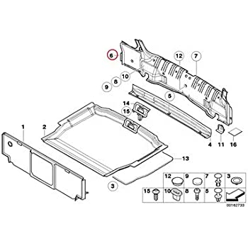Amazon Com Bmw Genuine Trunk Floor Trim Panel Pad 323ci 325ci 328ci