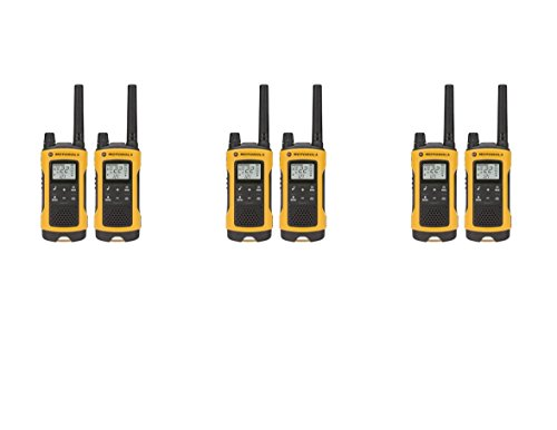 Motorola Talkabout T400 Two-Way Radios Weatherproof PTT IVOX Eco Smart Walkie Talkies 6-PACK