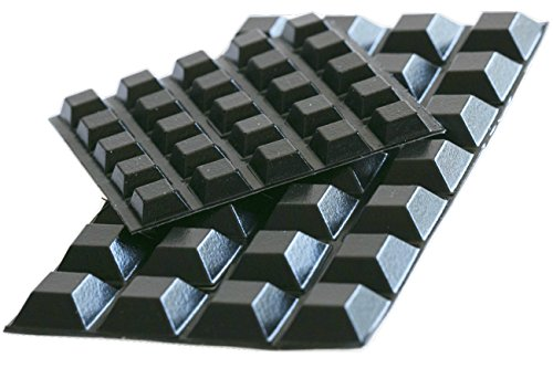 Black Rubber Feet (53 Pack) Self Stick Bumper Pads - Made in USA - Adhesive Tall Square Bumpers for Electronics, Speakers, Laptop, Appliances, Furniture, Computers