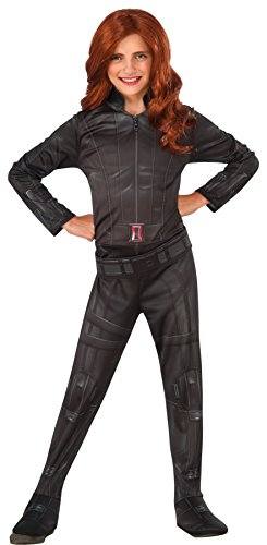 Spy Costume Womens (UHC Girl's Black Widow Outfit Civil War Fancy Dress Child Halloween Costume, Child M (8-10))