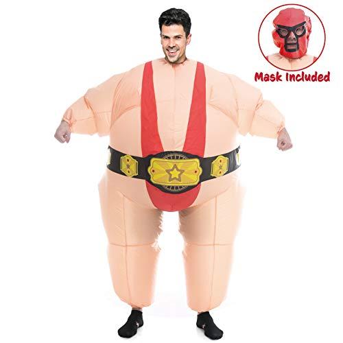 Wrestler Halloween Costume (Spooktacular Creations Inflatable Costume Sumo Wrestler Air Blow-up Deluxe Halloween Costume - Adult Size (5'3'' to 6'3''))