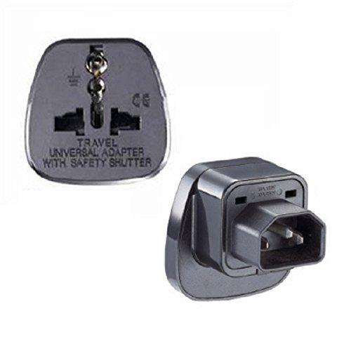 IEC C14 to EU Plug Power Adaptor Computer Socket AC Travel Adapter Converters