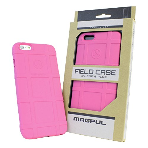 """iPhone 6s Plus Case, iPhone 6 Plus Case, Magpul [Field] Polymer Case Cover MAG485 Retail Packaging for Apple iPhone 6 Plus/6S Plus 5.5"""" inch + TJS Tempered Glass Screen Protector (MAG485 Pink)"""