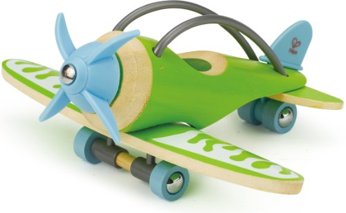 Hape e-Plane Bamboo Toddler Wooden Toy Airplane Wood Toy Car