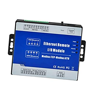 LOVIVER M210T Ethernet 4 CH Remote IO Module,for Home Automation - Web, IP, LAN,PLC