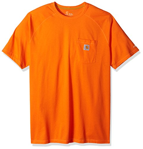 Carhartt Men's Force Cotton Delmont Short Sleeve T-Shirt (Regular and Big & Tall Sizes), Bold Orange, 4X-Large