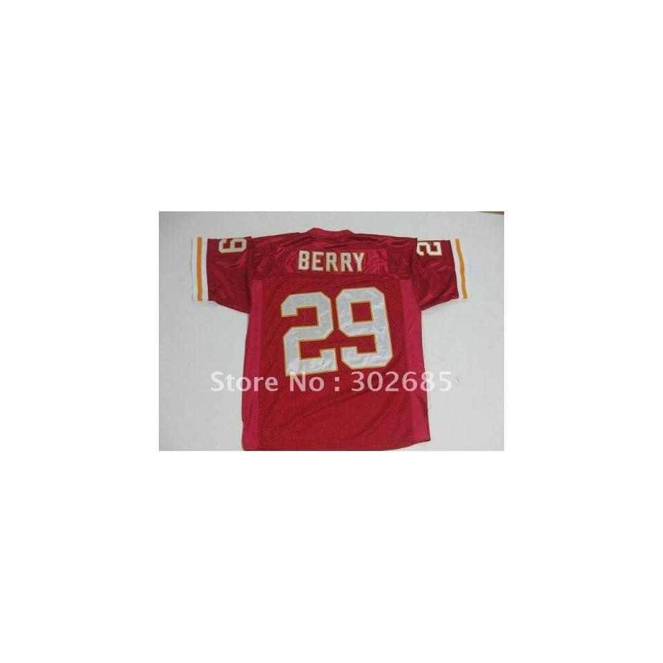 red kansas city chiefs #29 football jerseys berry jersey
