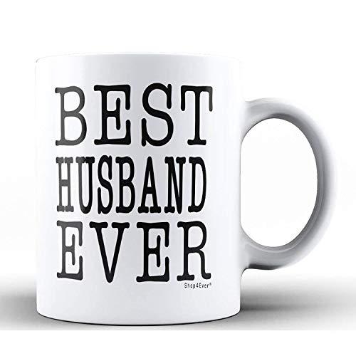 Shop4Ever Anniversary Gift for Husband ~ Best Husband Ever Ceramic Coffee Mug Tea Cup ~ Wedding Hubby Gift