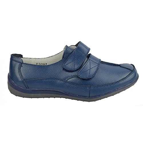 walking touch Donna soft pelle scarpe Marina facile Footwear Kick cinturino Ladies in fissare chiusura 4q5nSHzw5