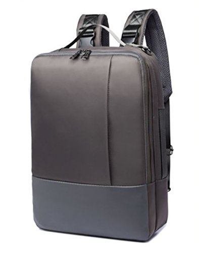 Inch Laptop Briefcase Shoulder Bag For Men [Black/Blue/Gray With 4 PCS Travel Pouches] (Gray) ()
