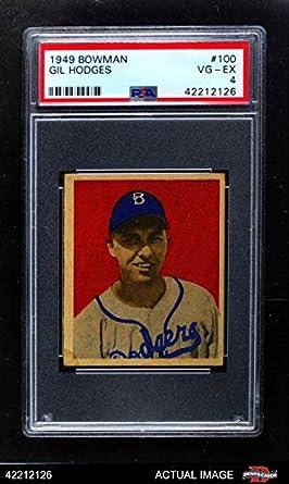 Amazoncom 1949 Bowman 100 Gil Hodges Brooklyn Dodgers