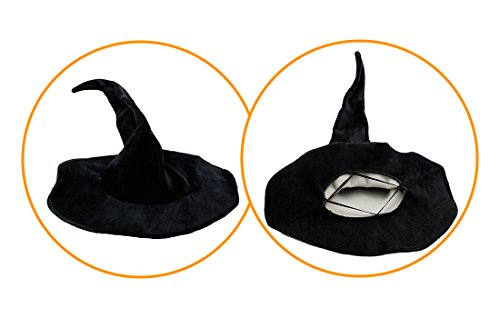 Lulutus Halloween Witch Party Cosplay Large Black Witch Hat for Women Costume Accessory by Lulutus (Image #2)