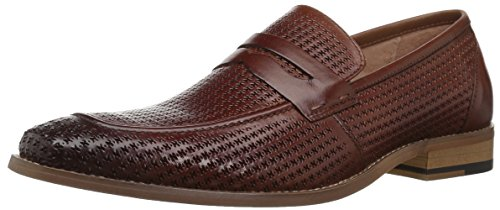 STACY ADAMS Men's Belfair MOE Toe Penny Slip-ON Loafer, Cognac, 10 M US
