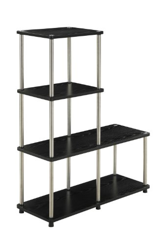 (Convenience Concepts 151077 Designs2Go Multi L Bookshelf, Black)