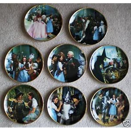 Wizard Of Oz 1988 Set Of 8 Hamilton Collectors Plates By Thomas Blackshear W Boxes Coa Limited To 14 Firing Days