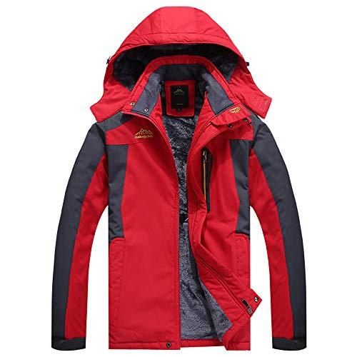 Rojo Al Algodón Slim Chaqueta Fit Engrosado Abrigos De Hombre Cachemira Sudadera Ropa Invierno Viento Exterior Y Abrigo Luoluoluo Resistente Cálida xSHwqR7T7