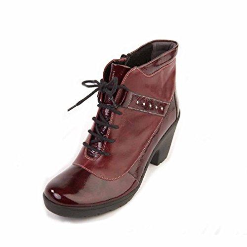 Botas Rojo Para Mujer Suave Oscuro wO4q6t6d