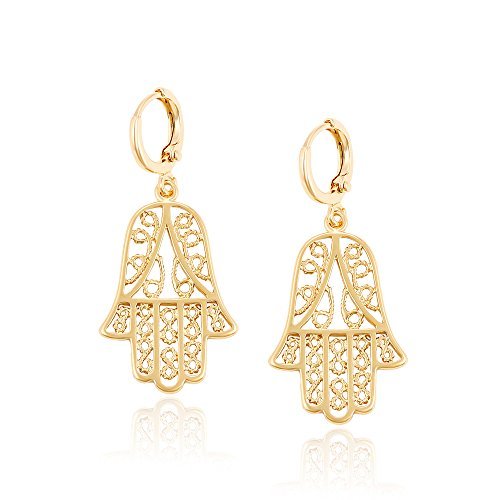 Grandma Halloween Costume Makeup (Xuping Drop Hamsa Hand Earrings Christmas Fashion Jewelry Gifts M4-92444)
