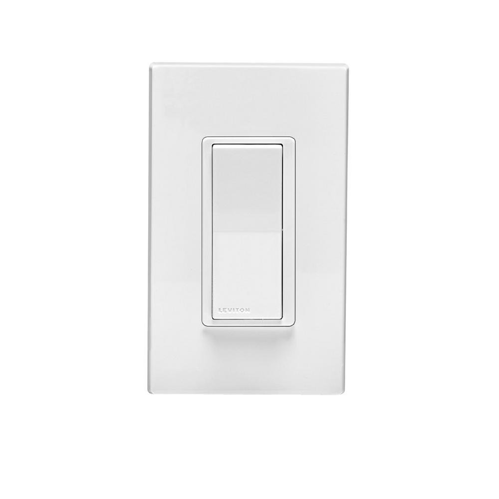 Leviton Dz15s 1bz Decora Smart Switch With Z Wave Plus Technology Light And For Heater Fan Wiring In Addition Remote White Almond Works Alexa