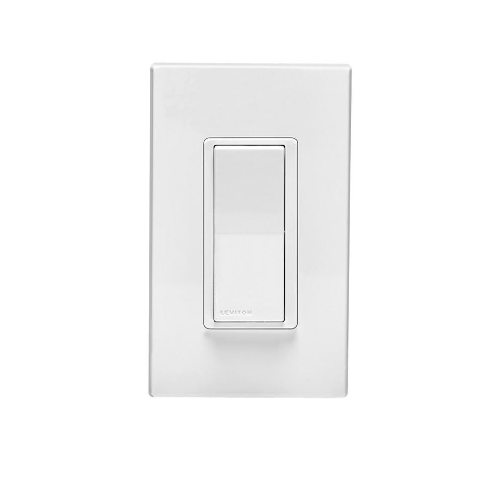 Leviton DZ15S-1BZ Decora Smart Switch with Z-Wave Technology, 10-Pack, White/Light Almond, Works with Alexa