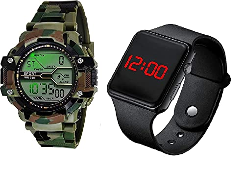 SELLORIA Shockproof Waterproof Digital Sports Watch for Men's Kids Sports Watch for Boys – Military Army Watch for Men…