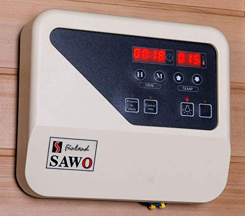 and Water Bucket Digital Control Panel Canadian Hemlock Wood Traditional Swedish 60 2 or 3 Person Indoor Sauna Spa with 6KW Wet or Dry Heater Rocks
