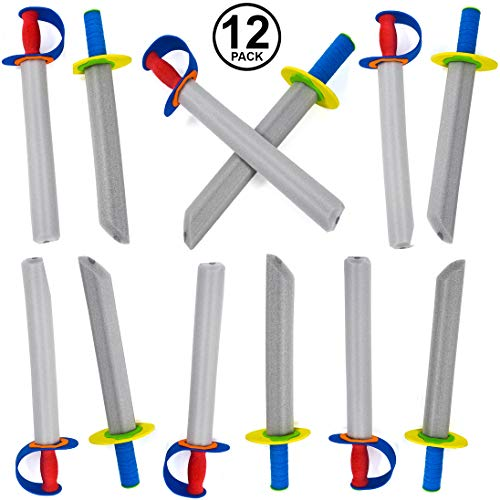 Tigerdoe Foam Swords for Kids - 12 Pack Toy Swords - Ninja Swords - Toy Weapons -